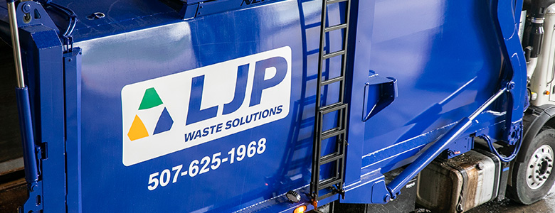 An LJP waste collection truck.